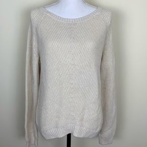 Banana Republic Ivory Metallic Sweater